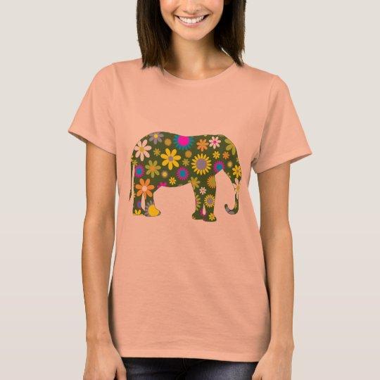 Weibliches Unterhemd Blumen im Elefanten