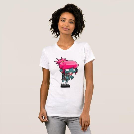 Weibliches Zombie-Mädchen, das Shirt der Frauen
