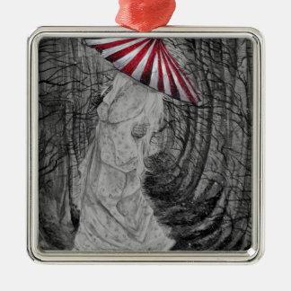 Weich gehend silbernes ornament