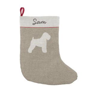 Weich überzogene Wheaten Terrier-Silhouette mit Kleiner Weihnachtsstrumpf
