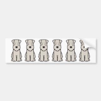 Weich überzogener Wheaten Terrier-HundeCartoon Autoaufkleber