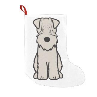 Weich überzogener Wheaten Terrier-HundeCartoon Kleine Weihnachtsstrümpfe