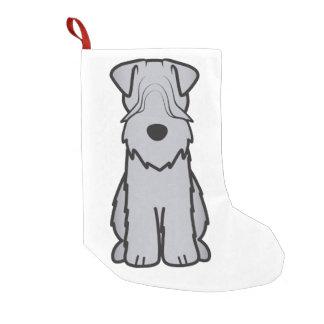 Weich überzogener Wheaten Terrier-HundeCartoon Kleiner Weihnachtsstrumpf