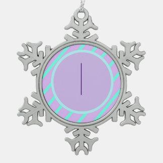 Weiche grundlegende wunderliche Verzierung des Schneeflocken Zinn-Ornament