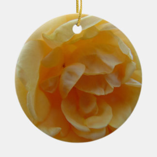 Weiche orange Rose Rundes Keramik Ornament
