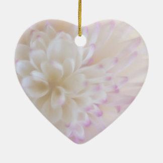 Weiche PastellBlumen-Fotografie Keramik Herz-Ornament