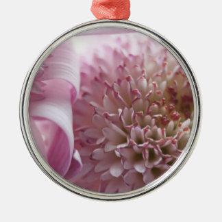 Weiche PastellBlumen-Fotografie Rundes Silberfarbenes Ornament