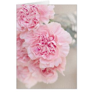 Weiche Pulver-Rosa-Blume Karte