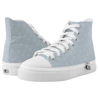 Weiche weiße Blumen-hoher Spitzenschuh-Entwurf Hoch-geschnittene Sneaker