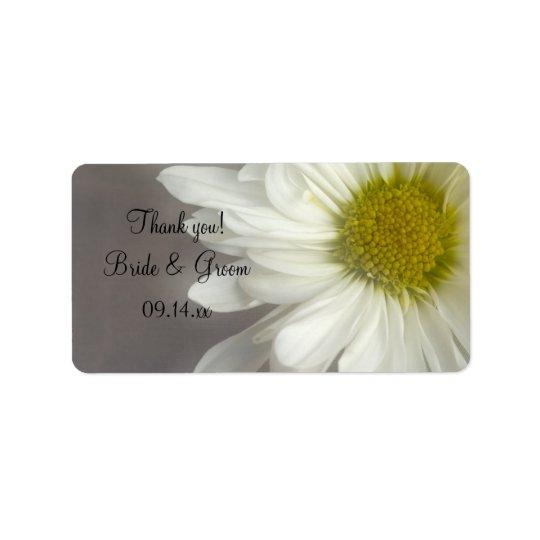 Weiche weißes Gänseblümchen-Hochzeit danken Ihnen, Adressetikett