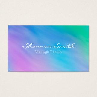 Weicher Aquarell-Regenbogen-Himmel-minimale Visitenkarte
