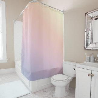 Weicher Pastellregenbogen-Krawatten-Duschvorhang Duschvorhang