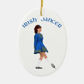 Weicher Schuh-irischer Tänzer im Blau Keramik Ornament