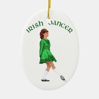 Weicher Schuh-irischer Tänzer im Grün Keramik Ornament