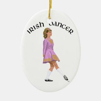 Weicher Schuh-irischer Tänzer im Rosa Keramik Ornament