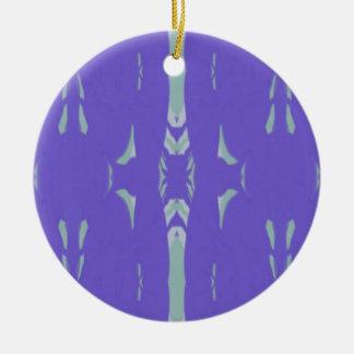 Weiches Lavendel-Minzen-Grün-künstlerisches Muster Rundes Keramik Ornament