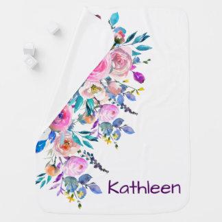 Weiches PastellAquarell-Blumenmuster Puckdecke
