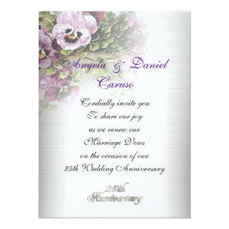weiches Stiefmütterchen 25. Jahrestag Einladung