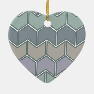 Weiches Ton-Muster Keramik Herz-Ornament