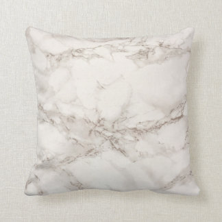 Weiches weißes Marmormuster Kissen