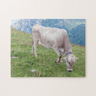 Weiden lassen des Kuh-Fotopuzzlespiels