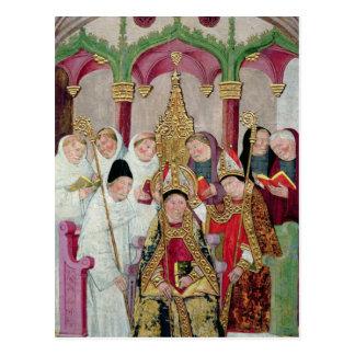 Weihe eines Bischofs, Valencian Schule Postkarte