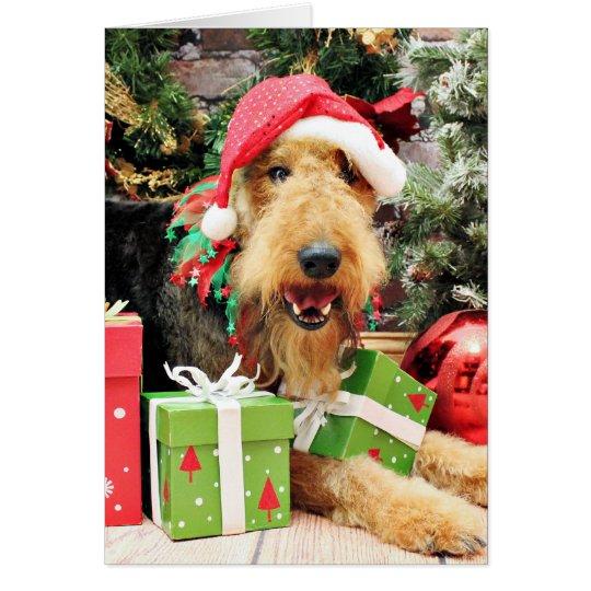 Weihnachten - Airedale - Kiehn Grußkarte