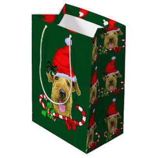 Weihnachten Airedales Terrier Mittlere Geschenktüte
