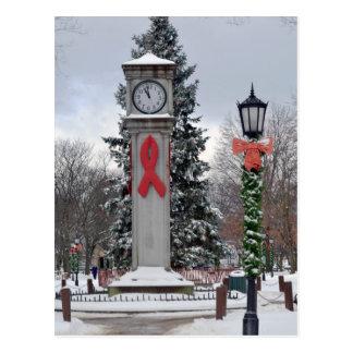 Weihnachten auf Lux-Uhr Postkarte