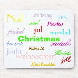 Weihnachten aus der ganzen Welt in Weiß I Mousepads