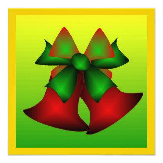 Weihnachten Bell IV Individuelle Einladungskarte