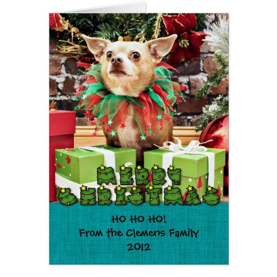 Weihnachten - Chihuahua - Meilen Grußkarte