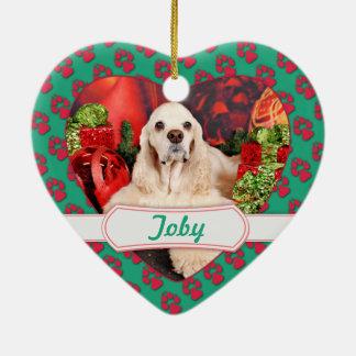 Weihnachten - Cockerspaniel - Toby, Havanese - Keramik Ornament