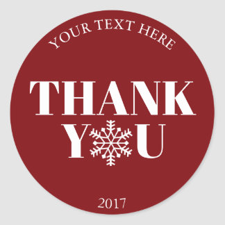 Christmas Thank You Snowflake Red White