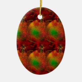 Weihnachten, das 5 einwickelt keramik ornament