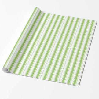 Weihnachten, das Papier-Mutige grüne Streifen Geschenkpapier