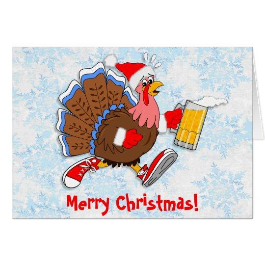 Weihnachten die Tipsy Türkei (Bier) Karte