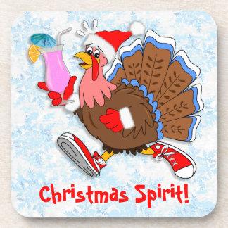 Weihnachten die Tipsy Türkei (Cocktail) Untersetzer