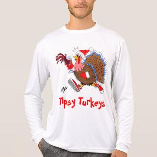 Weihnachten die Tipsy Türkei (Wein) - LS Sport-Tek T-Shirt