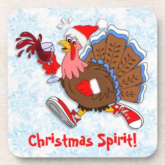 Weihnachten die Tipsy Türkei (Wein) Untersetzer