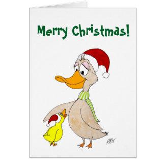 Weihnachten: Enten Grußkarte