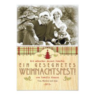Weihnachten Foto-Karte Grußkarte 12,7 X 17,8 Cm Einladungskarte