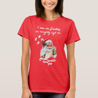 Weihnachten, freche Liste Weihnachtsmanns T-Shirt