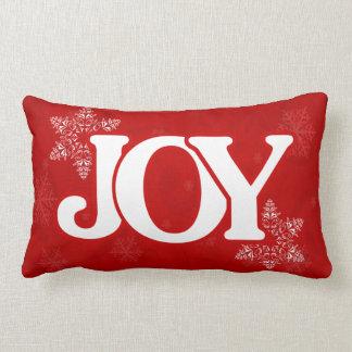Weihnachten-FREUDE elegantes rotes Lendenkissen