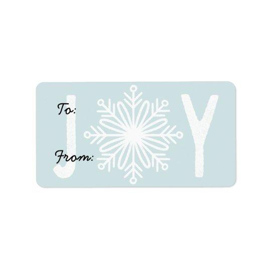 Weihnachten-FREUDE Schneeflocke-Geschenk-Aufkleber Adressaufkleber