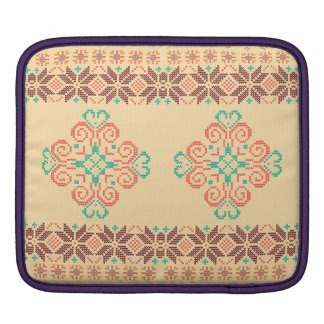 Weihnachten gestricktes Muster iPad Sleeve
