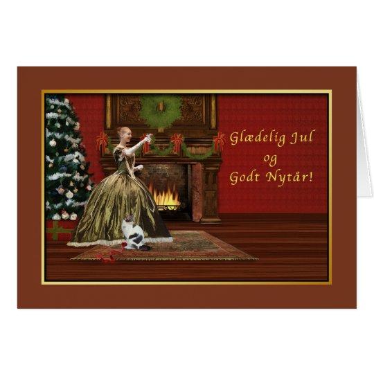 Weihnachten, Glædelig Jul, Dänische, altmodisch Grußkarte