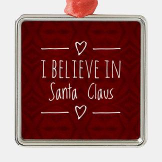 Weihnachten 'glauben an Weihnachtsmann-Zitat Silbernes Ornament