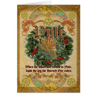 Weihnachten-heidnische Gruß-Karte Karte
