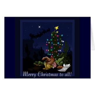 Weihnachten im Südwesten beleuchtet herauf Kaktus Karte